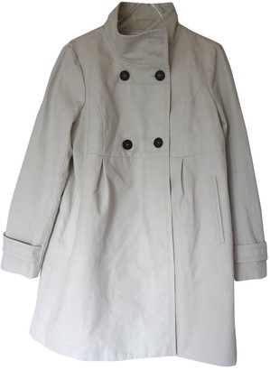 Comptoir des Cotonniers Ecru Cotton Coat for Women