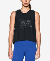 Under Armour Breathe Floral-Print High-Low Tank Top
