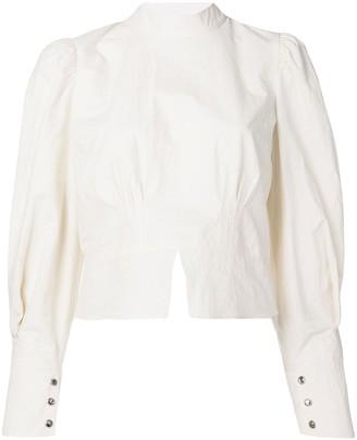 Nanushka structured shoulder blouse