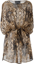 Philipp Plein patterned dress - women - Silk - M