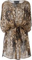 Philipp Plein patterned dress - women - Silk - S