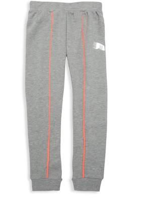 Puma Girl's Cotton-Blend Jogger Pants