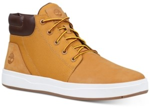 Timberland Men's Davis Square Leather Collar Chukka Shoes Men's Shoes