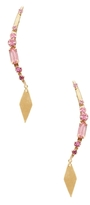Elizabeth Cole Spiked Ombre Crystal Drop Earrings