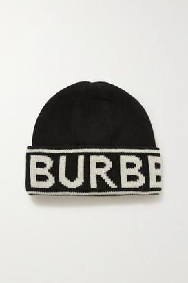 Burberry Intarsia Cashmere Beanie