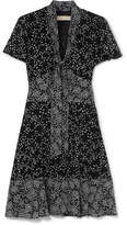 MICHAEL Michael Kors Pussy-bow Printed Chiffon Mini Dress - Black