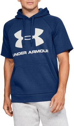 Under Armour Rival Fleece Short Sleeve Hoodie Pullover
