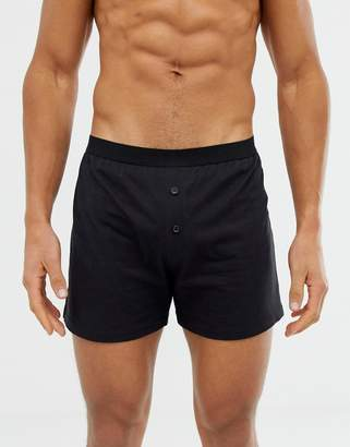 Asos Design DESIGN jersey boxer in black