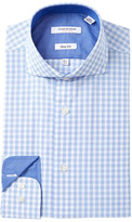 Isaac Mizrahi Graph Check Slim Fit Dress Shirt