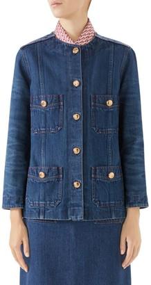 Gucci Washed Denim Lady Jacket