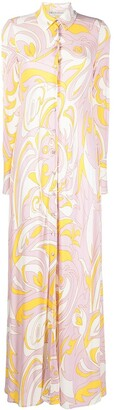 Emilio Pucci Dinamica print shirt dress