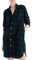 J.Crew Women's Blackwatch Flannel Sleep Shirt