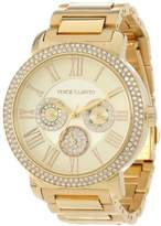 Vince Camuto Women's Quartz Watch with Gold Dial Analogue Display and Gold Stainless Steel Bracelet VC/5000CHGB