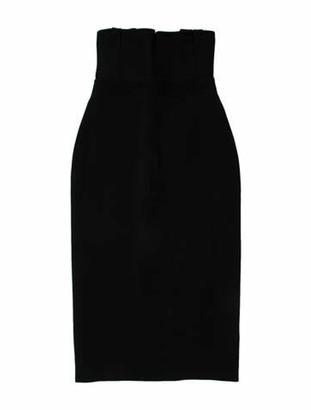 David Koma Strapless Mini Dress Black
