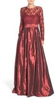 Rickie Freeman For Teri Jon Women's Sequin Lace Bodice Ballgown