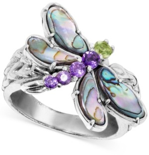 Carolyn Pollack Multi-Gemstone Dragonfly Ring (2-1/5 ct. t.w.) in Sterling Silver