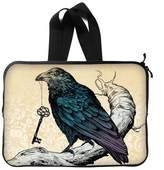 COLORSFORU Crow On Branch With Key Custom Laptop Sleeve Notebook Bag Case 13 Inch