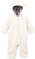Baby Nay Ivory Moose Friends Hooded Playsuit - Infant