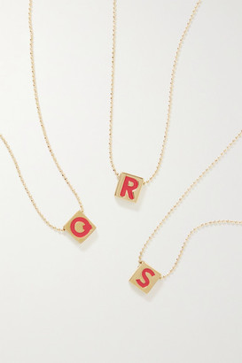 Roxanne Assoulin Initial This Gold-plated And Enamel Necklace