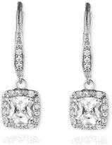 Anne Klein Single Stone Drop Pave Earrings