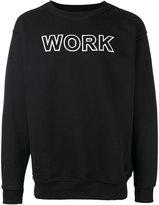 Andrea Crews 'work' print sweatshirt - men - Cotton/Polyester - S