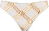 Marlies Dekkers White & Nude Summer Tweed Gloria Thong