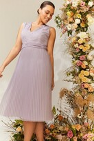 Thumbnail for your product : Coast Curve V Neck Pleated Skirt Sequin Midi Dress