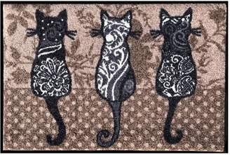 Pottery Barn Three Paisley Cats Indoor/Outdoor Washable Mat