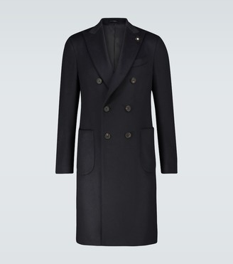 Lardini Double-breasted cashmere coat