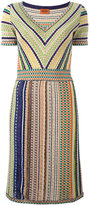 Missoni knitted V-neck dress - women - Silk/Nylon/Polyester/Rayon - 42