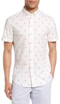 Bonobos Men's Slim Fit Dot Short Sleeve Sport Shirt