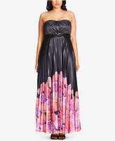 City Chic Trendy Plus Size Helena Strapless Gown