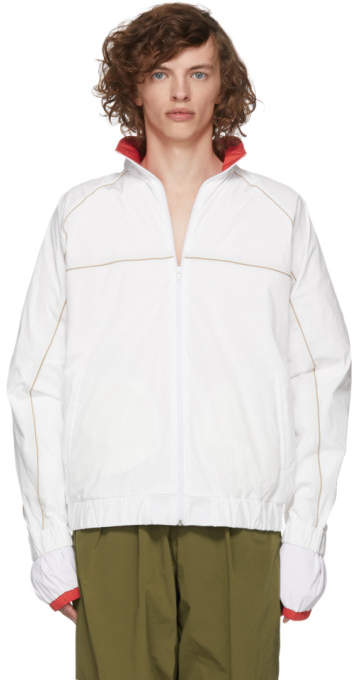 Y/Project White and Red Layered Jacket