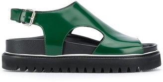 Plan C Cut-Out Fussbett Sandals