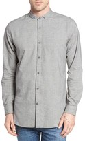 Zanerobe Men's Seven Ft Tuck Collar Elongated Woven Shirt
