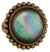 Stephen Dweck Mother of Pearl & Quartz Doublet Ring