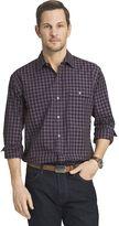 Van Heusen Big & Tall Classic-Fit Plaid Heathered Button-Down Shirt