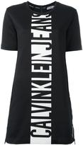 CK Calvin Klein logo print T-shirt dress
