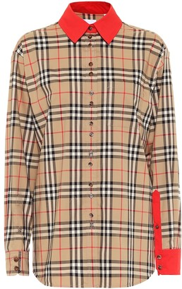Burberry Vintage Check stretch-cotton shirt