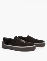 Lanvin Black Spider Motif Slip-on Sneakers