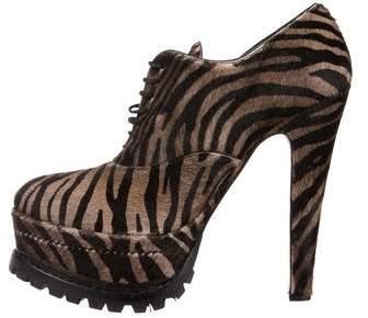 Alaia Ponyhair Ankle Boots