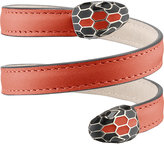 Bvlgari Serpenti Forever leather wrap bracelet