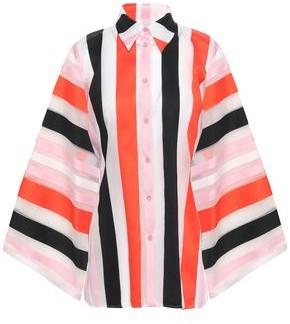 Emilio Pucci Striped Cotton-blend Organza Shirt