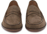 Reiss Reiss Lucas - Suede Penny Loafers In Brown