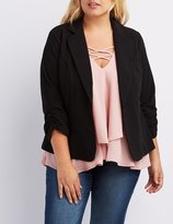 Charlotte Russe Plus Size Ruched Sleeve Blazer