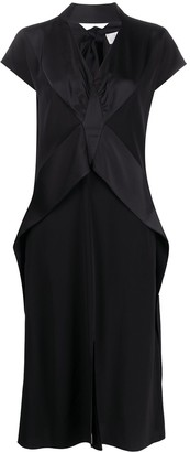 Victoria Victoria Beckham Panelled Tie-Neck Dress