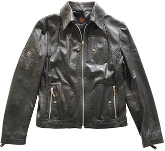 Tod's Black Leather Leather Jacket for Women