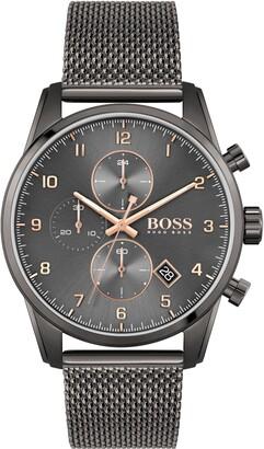 HUGO BOSS Skymaster Chronograph Mesh Strap Watch, 44mm