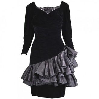 Ungaro Black Velvet Dress for Women Vintage