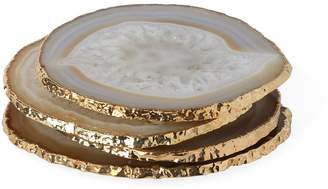 Jonathan Adler Natural and Gold Agate Coasters